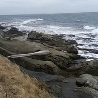 Rocky shore of East Point, Saturna Island