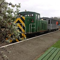 Diesel circa 1960's and brake van from 1928