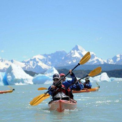 Kayak entre tempanos