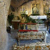 Altar and golden pews