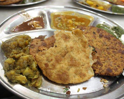 Paranthas with chatni and sabji