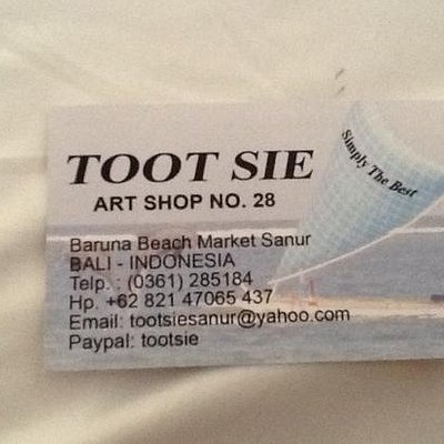 Tootsie business card