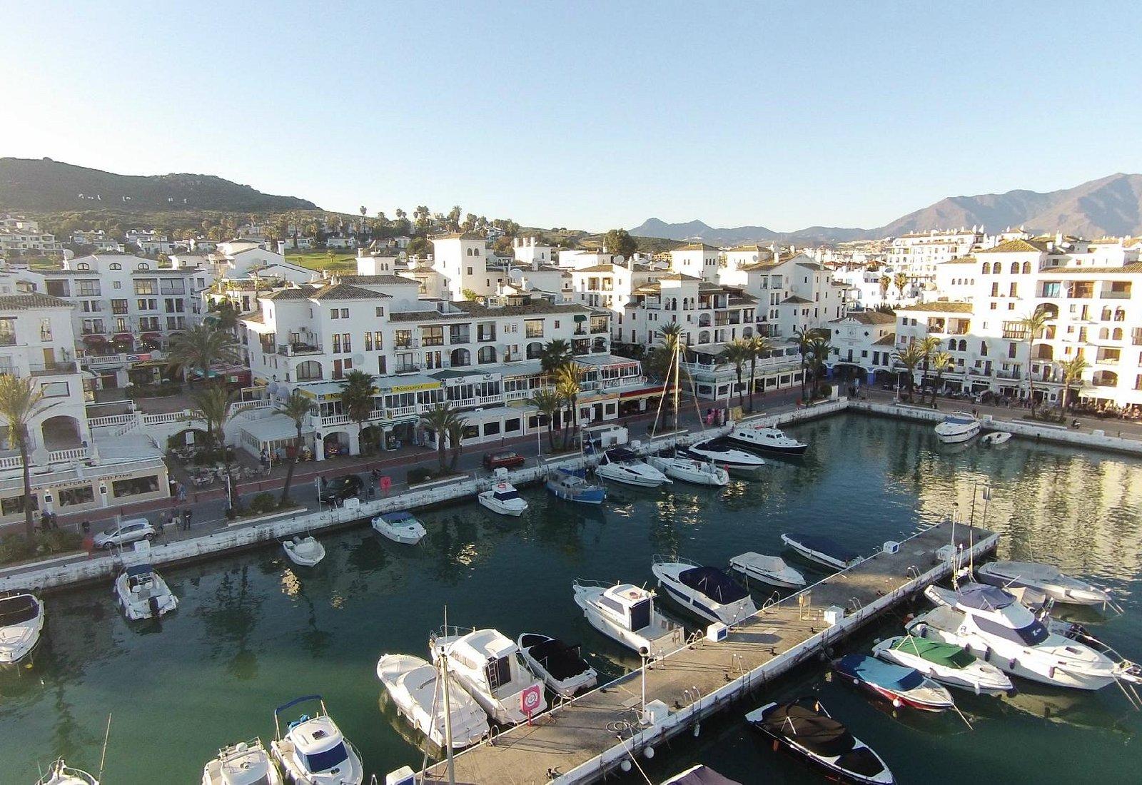 Aerial picture of Puerto de la Duquesa, Manilva, Malaga, Costa del Sol