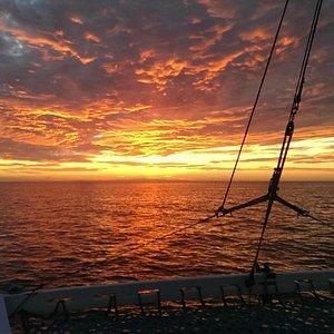 Fire sky Rocky Point Mexico