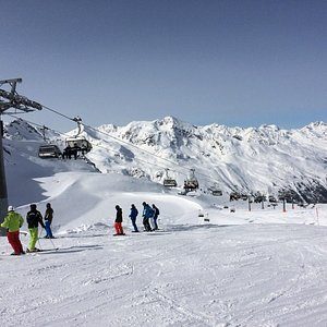Top of the chairlift at HochGurgl