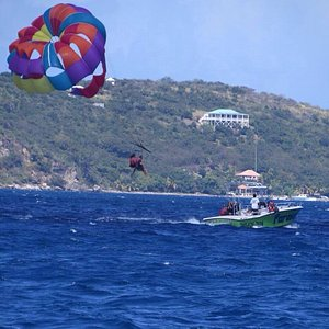 Taking off with Parasailing St Thomas