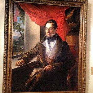 """Один из немногих портретов, написанных без """"фирменного"""" взгляда на зрителя, слишком уж пронзител"""