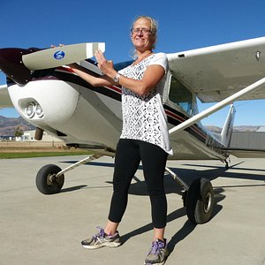 me and the plane I flew