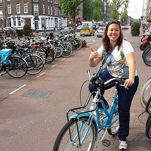 Alugando bike em Amsterdam