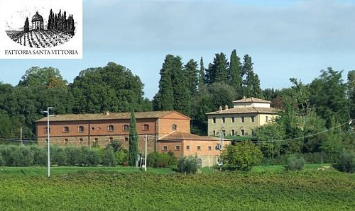 Winery building and panorama
