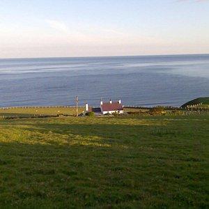 Walking the Llyn Coastal Path above Trefor in North West Wales.