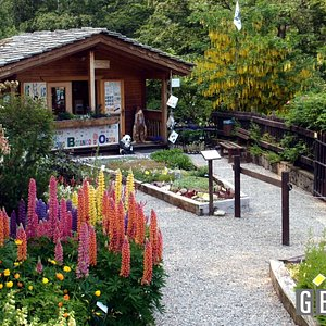 L'ingresso del Giardino con lo chalet d'accoglienza