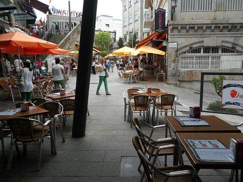 Vista de la zona del Mercado da Pedra