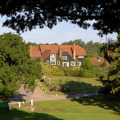 The view of the clubhouse upon arrival