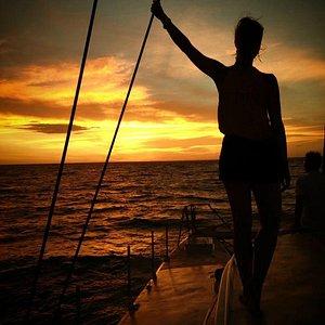 Champagne Sunset Sail Jan 2014