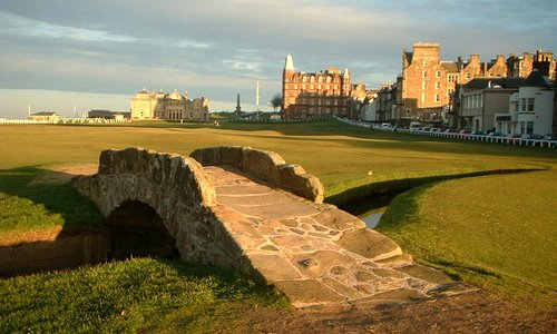 The nearby Old Course at St Andrews