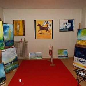 Malerier i Galleri14-18 i Fuglsang Have lør-søn kl.14-17