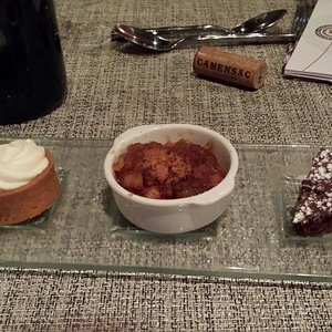 Dessert assiette gourmanee trois saveurs
