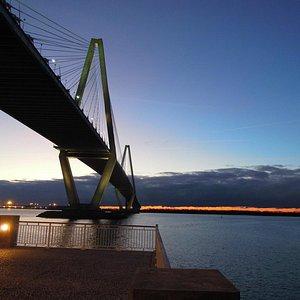 sunset at mt pleasant pier