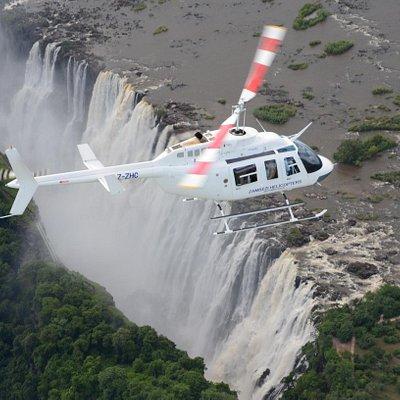 Flight over the majestic Victoria Falls