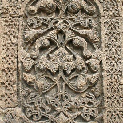 Détail d'une sculpture de l'entrée