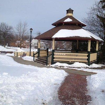 Bandstand in Webster's Veterans Memorial Park