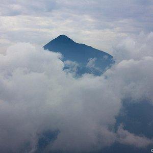View of Mahavura and Magahinga from Mt Sabinyo