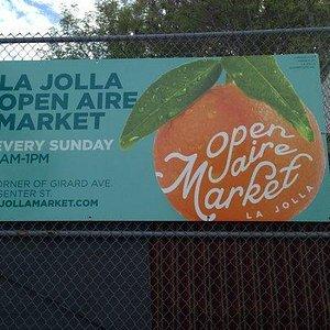 La Jolla Open Aire Market Sign