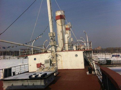 Вид с кормы судна