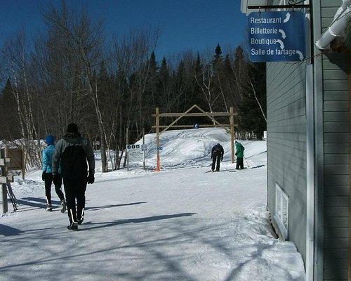 Centre de ski de fond Charlesbourg,départ pistes de ski de fond