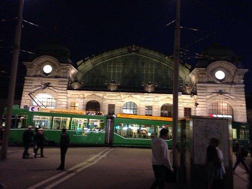 Basel SBB station at night