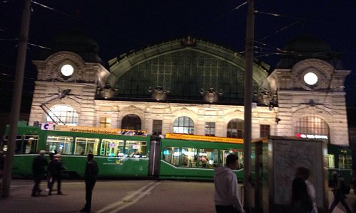 Basel SBB station at night