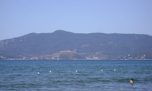 ..vista dalla spiaggia..