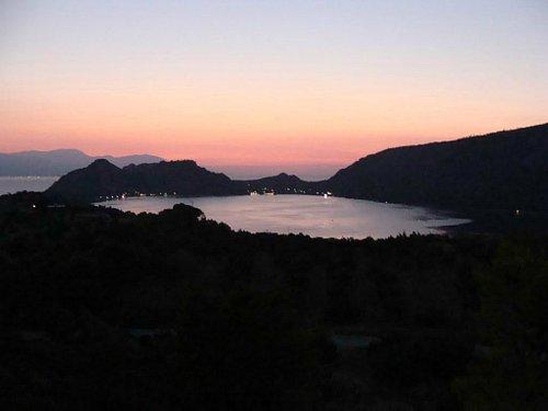 Vouliagmeni lake twilight
