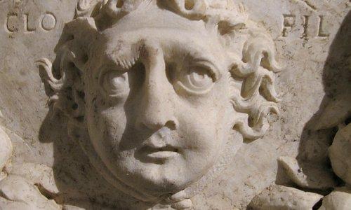 Via Triumphalis Necropolis sarcophagus detail