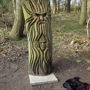 Carvings in St Ives estate