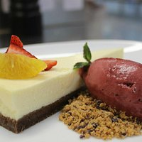 Cheese Cake with Forest Fruit Sorbet