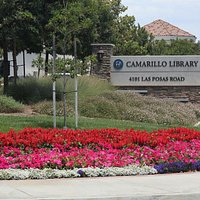 Beautiful landscape around the beautiful new library in Camarillo.