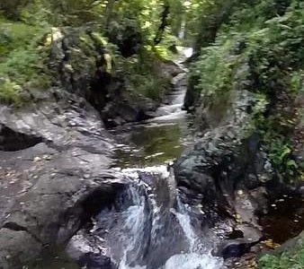 Waterfall slide