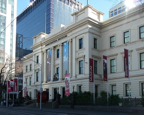 Exterior of the Immigration Museum.
