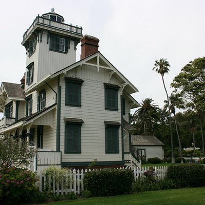The lighthouse grounds