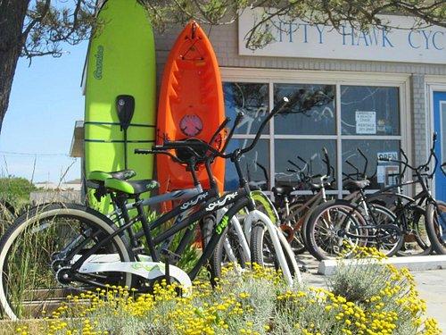 Stop in the Store! Bike, kayak, SUP rentals & more!