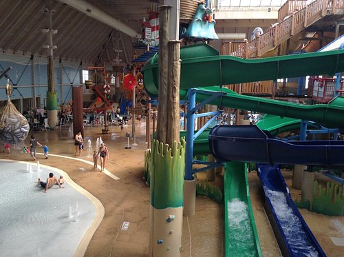 A view of the water park.