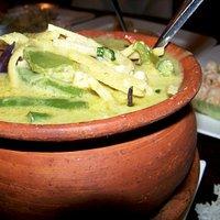 Green Curry (Homemade green curry, coconut milk, bell pepper, bamboo shoots, green bean, eggplan
