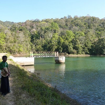 At the Kalaw water reservoir with our guide