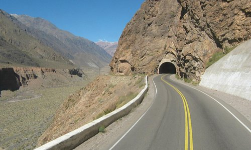 Uno dei tunnel del percorso