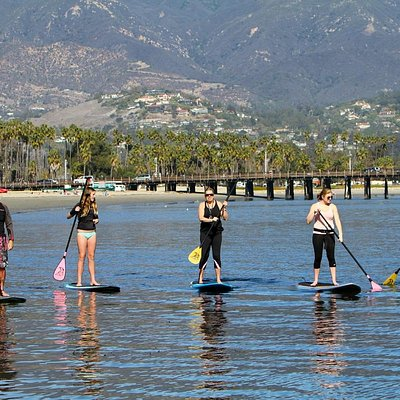 Stand up paddling at West Beach