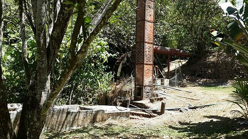 Ruinas de un molino, gran detalle