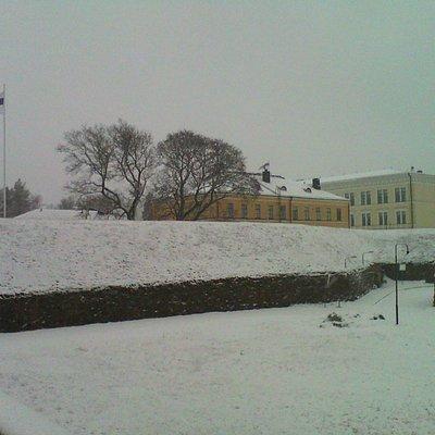 вид на крепостной вал и военную школу