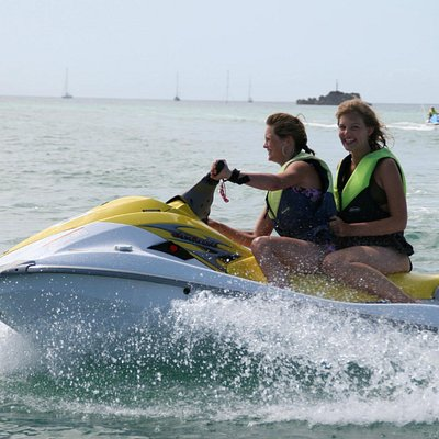 Jet Skiing at The Jersey Sea Sport Centre